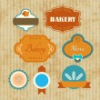 Stock Vector: Label bakery
