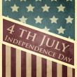 Stock Vector: Vector independence day background. Retro vintage version