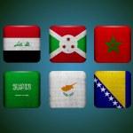 World flags. Vector. — Stock Vector #26237993