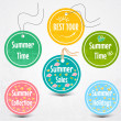 Royalty-Free Stock Vector Image: Vector set of stickers for summertime