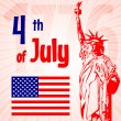 Vector independence day background. — Vettoriale Stock #26238063