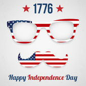 De dag van de onafhankelijkheid van de verenigde staten — Stockvector