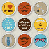 Happy father's day set — Stock Vector