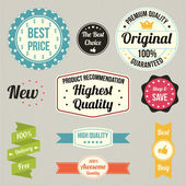 Vintage sale signs set — Vector de stock