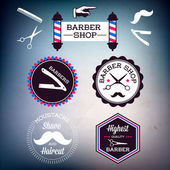 Barber shop signs — Vector de stock