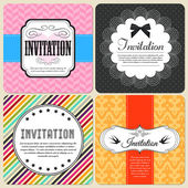 Invitation cards set — Stock Vector