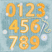 Sewing style numbers — Stock Vector