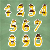 Funny digits — Stock Vector