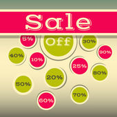 Sale labels and signs — Stock Vector