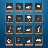 El tiempo en web iconos conjunto — Stockvector