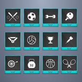 Sport web knappar set — Stockvektor