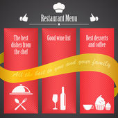 Restaurant menu template — Stock Vector