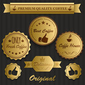 Best coffee vintage labels — Stock Vector