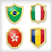Tarcza stylizowana flagi — Wektor stockowy