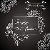 Premium quality. Retro vector frame — Stock Vector
