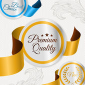 Set of vector labels for premium quality items — Stock Vector