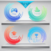 Set of vector icons for design. — Stock Vector