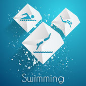 Swimming vector icons — Stock Vector