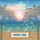 Travel time vector — Stock Vector