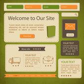 Website Templates — Stock Vector