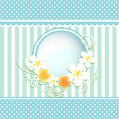 Bubble with paper flowers — Vector de stock