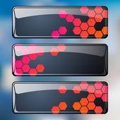 Vector set of web banners — Stock Vector