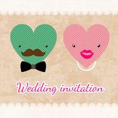 結婚式の招待カードのテンプレート ベクトル — ストックベクタ