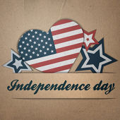 Vector independence day background. Retro vintage version — Stockvektor