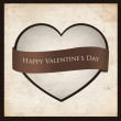 Vector de stock : Heart shaped frame with ribbon.