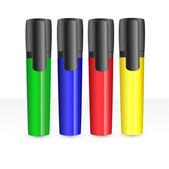 Marcadores coloridos. — Vetor de Stock