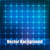 青い正方形のベクトルの背景. — ストックベクタ