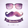 Nerd glasses and mustaches — Stock Vector