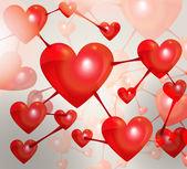 Valentinky den pozadí — Stock vektor