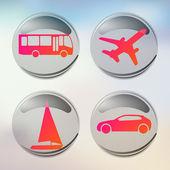 Tatil ve seyahat etmek simge kümesi. vektör icon set — Stok Vektör