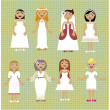 Wedding dress salon — Imagen vectorial