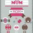 Set of greeting labels for Mother's day.Vector illustration — Stock Vector