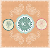 Mother's day greeting card with spring flowers. Vector illustration — Stok Vektör