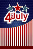 USA independence day banner with US flag. Vector illustration — 图库矢量图片