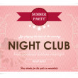 Poster for an event in a nightclub. — Stock Vector