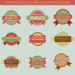 Retro vector labels and badges — Stock Vector #32069707