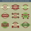 Retro vector labels and badges — Stock Vector #32069797
