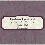 Restaurant menu design in a retro style — Stock Vector
