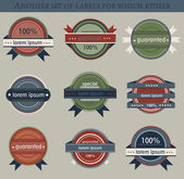 Retro vector labels and badges — Vector de stock