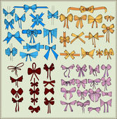 お祝いベクトル弓のセット — ストックベクタ