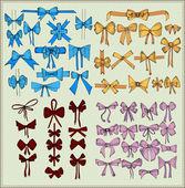 Set of festive vector bows — Cтоковый вектор