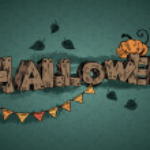 Vector halloween inscription — Stock Vector