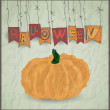 Stock Vector: Halloween pumpkin