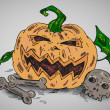 Halloween illustration — Vettoriali Stock