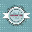Stock Vector: Happy new 2014 year