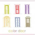 Set of color vector doors — Stock Vector #34052779